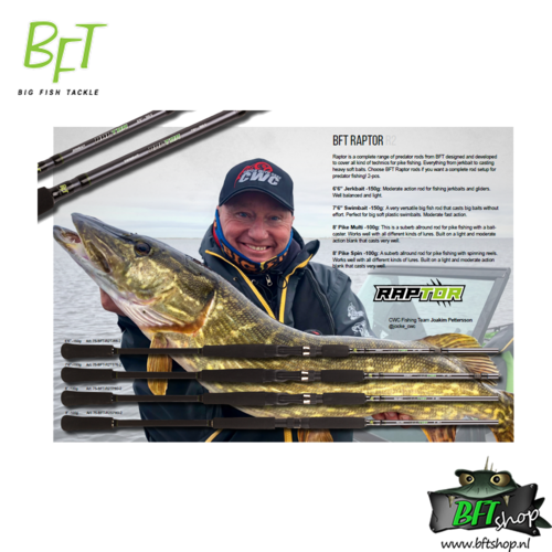 BFT Raptor 8' Pike Multi -100g + CWC Rod Cover